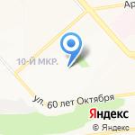 Средняя общеобразовательная школа №42 на карте Белгорода