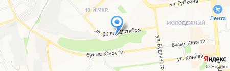 Вертолёт на карте Белгорода