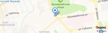 Живая рыба на карте Белгорода