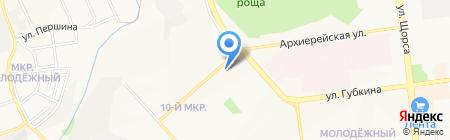 Лель на карте Белгорода