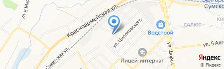 Городская баня №2 на карте Белгорода