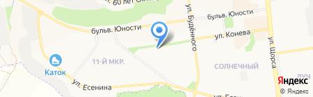 Стриж на карте Белгорода
