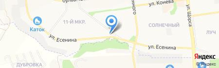 Автомойка на ул. Есенина на карте Белгорода