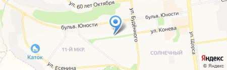 Кокетка на карте Белгорода