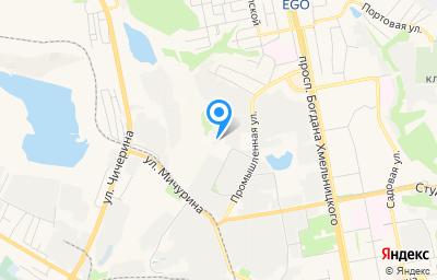 Местоположение на карте пункта техосмотра по адресу г Белгород, проезд Промышленный, д 14