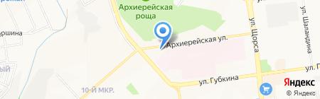 Арлекин на карте Белгорода