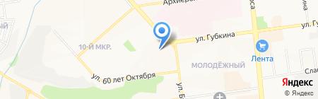Латре на карте Белгорода