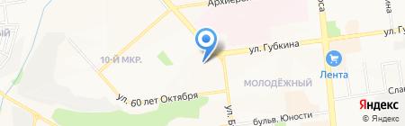 Минутка на карте Белгорода