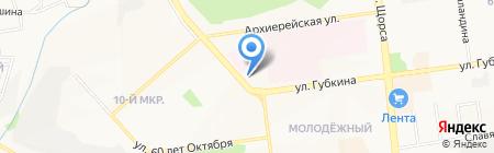 Грация на карте Белгорода