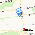 Златовласка на карте Белгорода