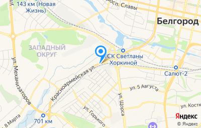 Местоположение на карте пункта техосмотра по адресу г Белгород, ул Красноармейская, д 7В