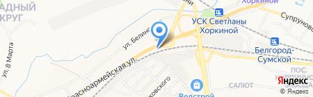 Кристалл-гранит на карте Белгорода