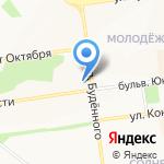 Общеобразовательная школа-интернат №23 на карте Белгорода