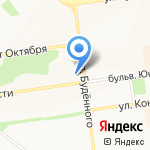 Галлея на карте Белгорода