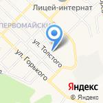 Автощит на карте Белгорода