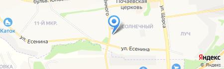 Будённовский на карте Белгорода