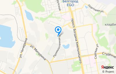 Местоположение на карте пункта техосмотра по адресу г Белгород, ул Промышленная, д 15