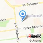 Гномик на карте Белгорода
