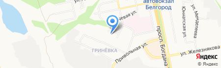 Эликонт на карте Белгорода