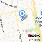 Противотуберкулезный диспансер на карте Белгорода