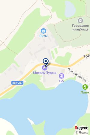 АЗС АТП ПУДОЖСКОЕ на карте Пудожа