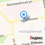 Азалия на карте Белгорода