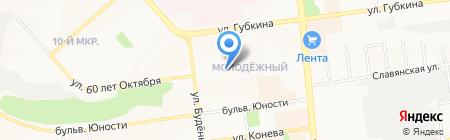 Гимназия №22 на карте Белгорода