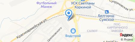 АвтоТехЦентр на Водстрое на карте Белгорода