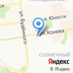 Зелёная грядка на карте Белгорода
