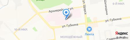 Поликлиника №7 на карте Белгорода