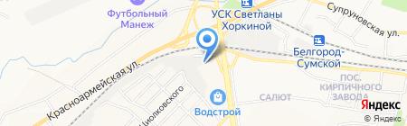 Шиномонтажный центр на карте Белгорода