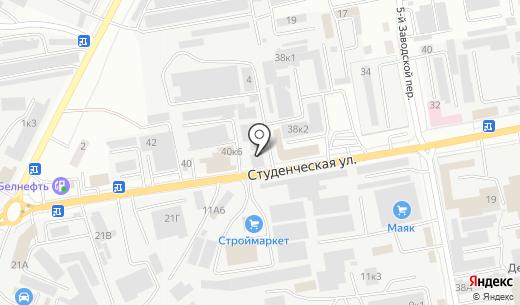 Инструмент клуб. Схема проезда в Белгороде