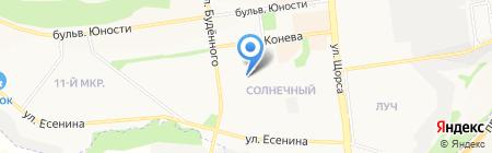 Рождественский на карте Белгорода