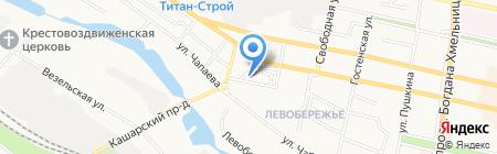 СТИН-Чапаева на карте Белгорода