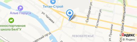 О Кей на карте Белгорода