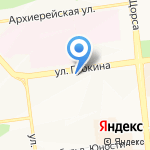 Цветочка на карте Белгорода