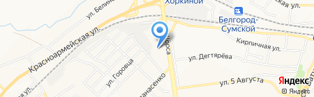 Дулёвский фарфор на карте Белгорода