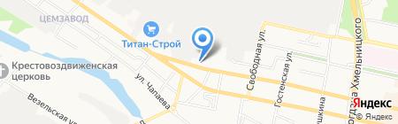 Шиномонтажная мастерская на ул. Преображенская на карте Белгорода