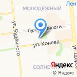 Антилопа на карте Белгорода
