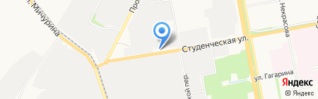 Машина на карте Белгорода