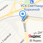 Дверник на карте Белгорода