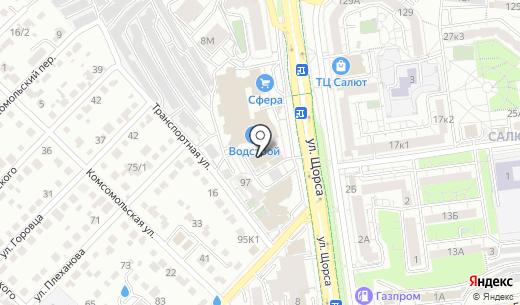 Магнит. Схема проезда в Белгороде
