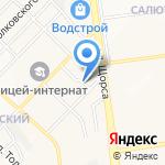 Астель на карте Белгорода