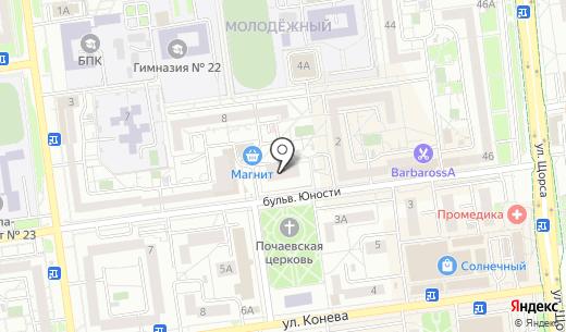 ДЕКОР ЦЕНТР. Схема проезда в Белгороде