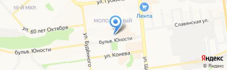Вобла на карте Белгорода