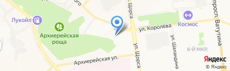 Риц на карте Белгорода