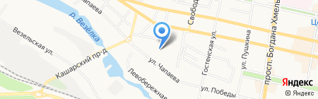 Компег на карте Белгорода