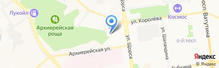 Промсектор на карте Белгорода