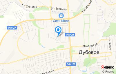 Местоположение на карте пункта техосмотра по адресу Белгородская обл, Белгородский р-н, гск Единство (п Дубовое), ряд 8, д 4