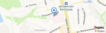 Областной онкологический диспансер на карте Белгорода